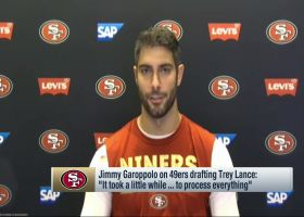 Jimmy Garoppolo shares reaction to 49ers drafting Trey Lance