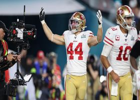 Kyle Juszczyk barrels into the end zone for Niners' first TD