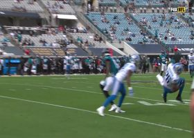 Duron Harmon jumps Chark's route for Lions' INT