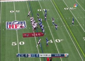 Damien Harris darts into Giants' secondary for quick 18-yard gain