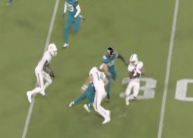 Ryan Fitzpatrick attempts to lower the BOOM on Gaskin's cutback run