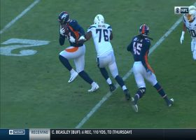 DreMont Jones jumps Rivers screen pass for field-flipping INT