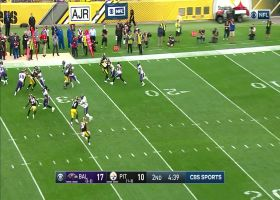 Justice is served! Ravens rookie Hill BURSTS for 46-yard return