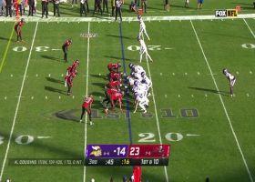 Kirk Cousins' 25-yard seam pass hits Irv Smith Jr. perfectly