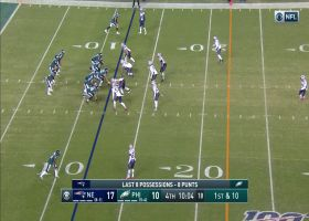 Wentz unleashes laser throw to Ertz big 25-yard pickup