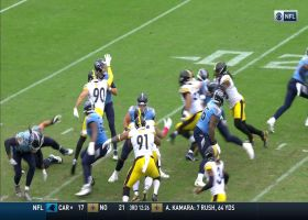 T.J. Watt almost causes fumble on quick sack