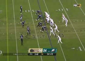 Josh Sweat's second sack of day gets him to six on the year
