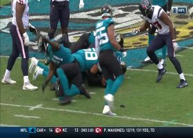Myles Jack muscles ball away from Duke Johnson on big fumble