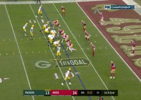 Rodgers extends the play to hit Sternberger for TD in back of the end zone