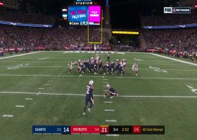 Nugent's 40-yard FG try thuds off the upright