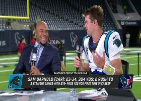 Sam Darnold reacts to Panthers' 3-0 start to '21 with Steve Smith Sr.