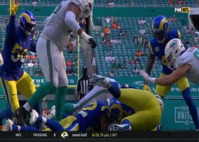 Taylor Rapp knocks ball loose for huge forced fumble