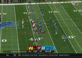 Alex Smith delivers strike under duress to Logan Thomas for 27 yards