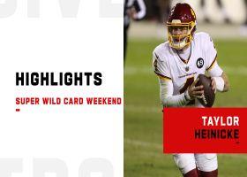 Taylor Heinicke's best plays in first playoff start | Super Wild Card Weekend