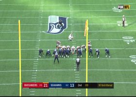 Matt Gay misses 50-yard FG attempt as first half ends