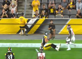 Zach Gentry gets MAJOR AIR on stellar TD snag