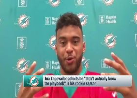 Tagovailoa: 'I didn't actually know the playbook' well as a rookie