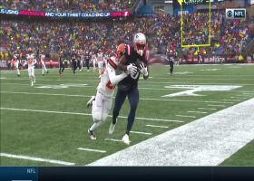 Tom Brady lobs perfect over-the-shoulder throw to Phillip Dorsett for 33 yards