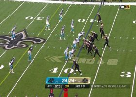 Brees picks apart Carolina's zone with 20-yard third-down toss