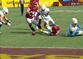 Kyzir White's forced fumble sets Bolts up on WFT's 3-yard line