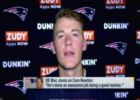 Mac Jones on Cam Newton: 'He's done an awesome job being a good mentor'