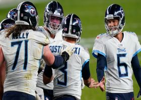Redemption! Titans teammates embrace Gostkowski after game-winning FG