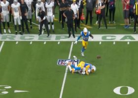 Michael Davis disrupts Derek Carr's fourth-down pass to seal win for Bolts