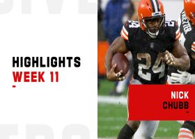 Best plays by Nick Chubb and Kareem Hunt vs. the Eagles | Week 11