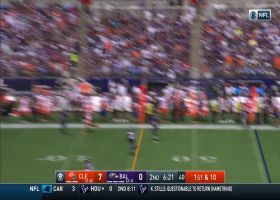 OBJ evades swarm of Ravens to nearly complete incredible deep ball to Ratley