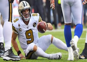 Brees can't find open Michael Thomas, gets sacked