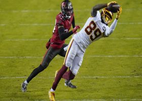 Taylor Heinicke rips seam throw to Cam Sims for strong 23-yard grab