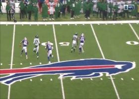 Levi Wallace reels in INT after ball deflects off teammate's helmet