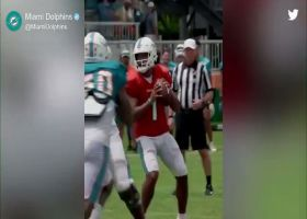 Camp highlight: Isaiah Ford snags one-handed TD on Tua Tagovailoa pass