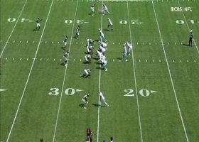 Darnold's first pass vs. former team goes to CMC for first down
