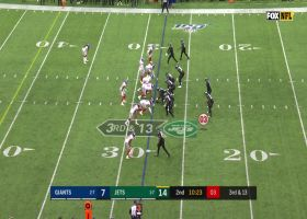 Giants' D surround Darnold on BIG sack