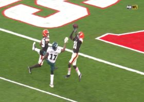 Ward makes up for defensive PI penalty with leaping red-zone INT
