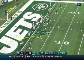 Darnold quick strike to Mims converts two-point play
