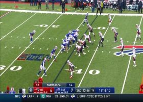 Devin Singletary busts through second level for 18-yard gain
