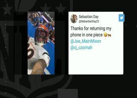 C.J. Uzomah, Joe Mixon take phone from fan to take selfie after TD