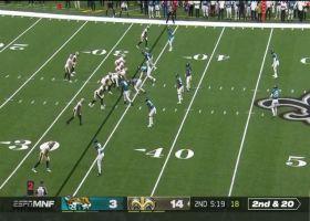 Lil'Jordan Humphrey's outstanding adjustment turns into 25-yard play