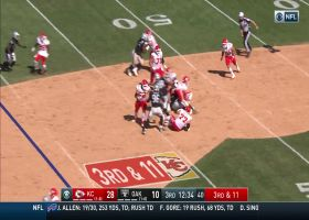 Raiders sack Mahomes for first time in his last 121 dropbacks