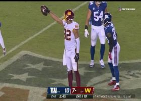 Logan Thomas reels in Taylor Heinicke's touch pass in traffic for 24 yards