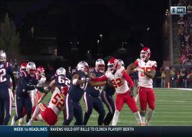Bashaud Breeland jumps route to intercept Tom Brady