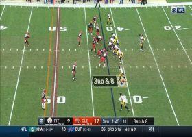 Browns pressure Mason Rudolph into M.J. Stewart's INT