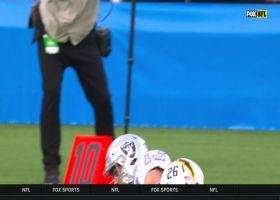 Derek Carr unloads 53-yard STRIKE to Hunter Renfrow on the move