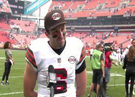 Baker Mayfield compliments Nick Chubb, Kareem Hunt