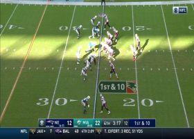 Cam Newton's 26-yard strike hits sliding Jakobi Meyers