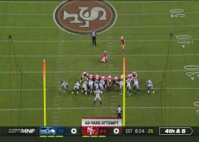 Chase McLaughlin's first FG try with 49ers is good from 43 yards out