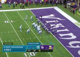 Lions take late lead on two-point conversion from Goff to Hodge