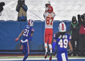 Mahomes, Kelce razor sharp on toe-tapping TD connection